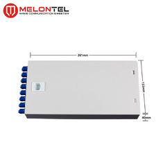 2 Metal Indoor Junction Box 8 Port Dengan ST Adapter Untuk FTTH Cabling MT120