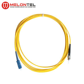 Cina 0.3mm Kuning Fiber Optic Patch Cord Single Mode Dengan SC-ST UPC Male Connector pabrik