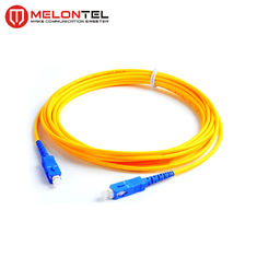 Kuning Single Mode SC SC Patch Cord, UPC Male Connector Fiber Optic Pigtail