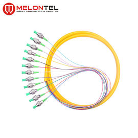 12 Inti Kuning Fiber Optic Patch Cord Simplex MT-S1000 Dengan Konektor FC Male