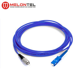 Cina Single Mode Fiber Optic Patch Cord Fiber Optic Armored Patch Cord Dengan SC-FC Connector MT S1000 pabrik