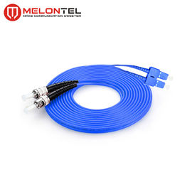 FTTH Duplex Fiber Optic ST SC Patch Cord Lapis Baja Satu Mode MT D1000