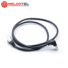 Cina Sudut Kanan STP Cat6 Patch Cord, LSZH Jacket RJ45 Patch Cord Dengan Colokan Logam pabrik