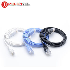 Cina Colourful RJ45 Network Patch Cord MT 5004, Kabel Patch LAN Cat6 Datar Dengan Boot pabrik
