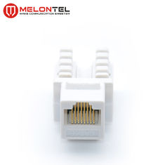 Cina PC Cat5e RJ45 Female Connector Dual IDC 8 Pin MT 5102 Dengan Cover pabrik