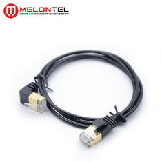 Cina Panjang Kustom RJ45 STP Patch Cable MT 5006, Black Cat5e Patch Cord Dengan Boot pabrik