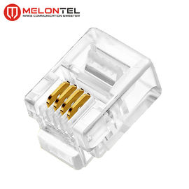 Cina MT-5051 RJ11 Modular Plug 4P4C 6P4C Plug RJ11 Modular Connector With Gold Plated pabrik