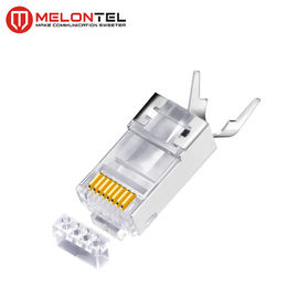 Cina MT-5054 RJ45 Modular Plug Metal Shield RJ45 8P8C Cat7 FTP Plug With Gold Plated pabrik