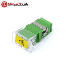 Cina Green Single Mode Fiber Connectors SC APC Simplex Adapter MT-1032-DN-SC A Dengan Penutup Debu Jenis Flip pabrik