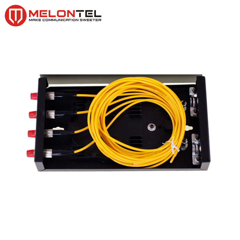 Indoor Metal Fiber Optic Distribution Box MT 1201 Wall Mounted Fully Loaded 4 Core Dengan SC Pigtails pemasok